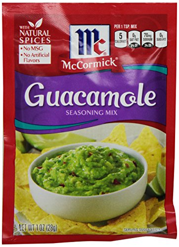 McCormick Guacamole Seasoning Mix, 1 oz (12 Pack)