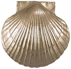 Sea Scallop Door Knocker - Nickel Silver (Premium Size)