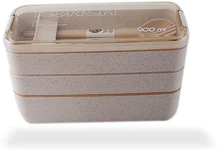 Amazon.com: Bento Box 900ml 3 Layers Lunch Box Eco