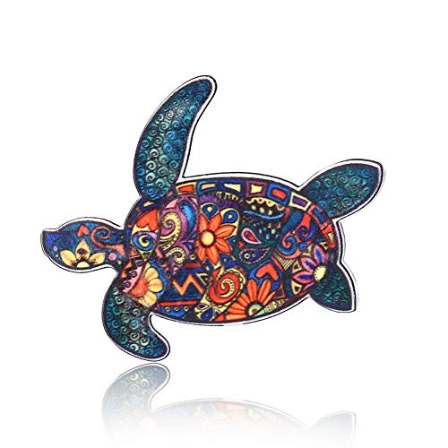 Turtle Pin - Animals Acrylic Horse Elephant Turtle Brooch Pin Colorful Unisex Dress Individuality Decorations Brooch Jewelry