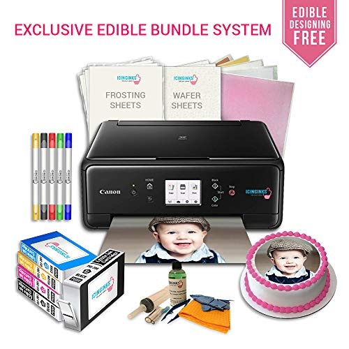 Icinginks Edible Images Cake Art Craft Printer Package Birthday Toppers Canon LCD Wireless Printer Bundle