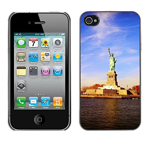 Premio Sottile Slim Cassa Custodia Case Cover Shell // F00015359 Statue de la Liberté // Apple iPhone 4 4S 4G