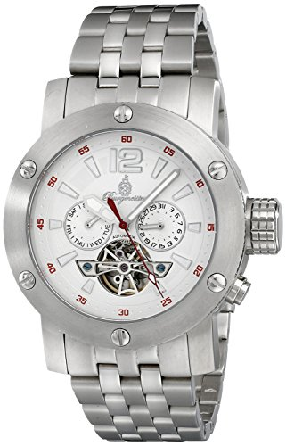 Burgmeister Men's BM329-111 Analog Display Automatic Self Wind Silver Watch