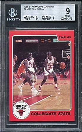 Amazoncom 1986 Star Michael Jordan 2 Michael Jordan Bulls