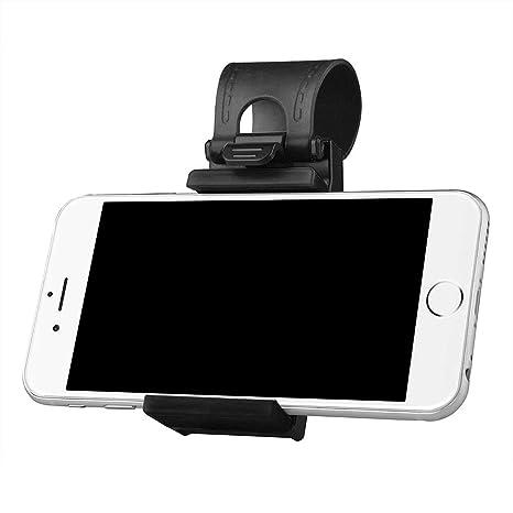 KOBWA Soporte de fijación para teléfono móvil de Volante de Coche, Soporte Universal para teléfono