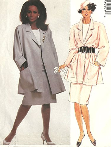 McCall's vintage 1980s sewing pattern 3515 swing jacket and skirt - Size 10-14