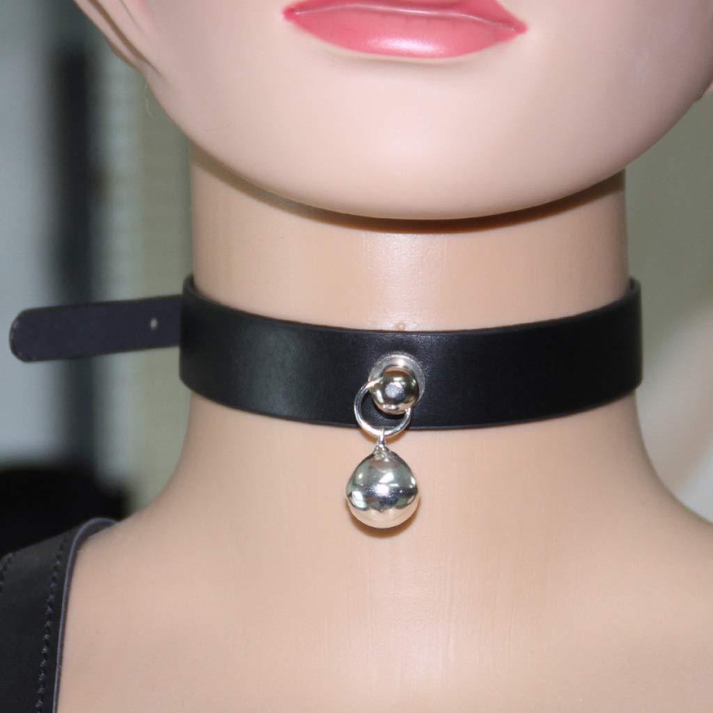 Cuello y cadena de de esclavitud ajustable de cadena cuello unido para parejas, negro e5f44c