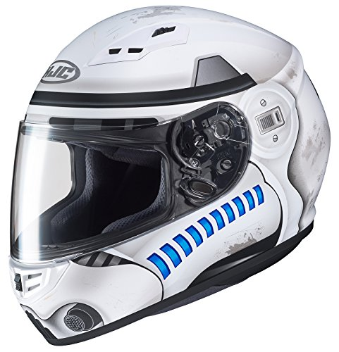Storm Fit Bucket - HJC Star Wars Unisex-Adult Full face CS-R3 Storm Trooper Motorcycle Helmet (White, Medium)