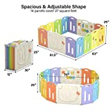 UBRAVOO Learn Coloring Baby Playpen, Baby Safety