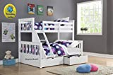 Supersonic Triple sleeper bunk bed (White)
