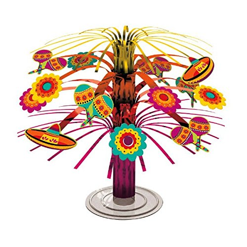 Fun-filled Fiesta Cinco de Mayo Party Mini Cascade Centerpiece Decoration, Foil, 7 Amscan - Toys 7 240055