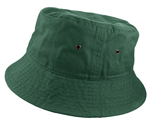 Gelante 100% Cotton Packable Fishing Hunting Sunmmer Travel Bucket Cap Hat 1900-HunterGreen-L/XL - Bucket Large Brim