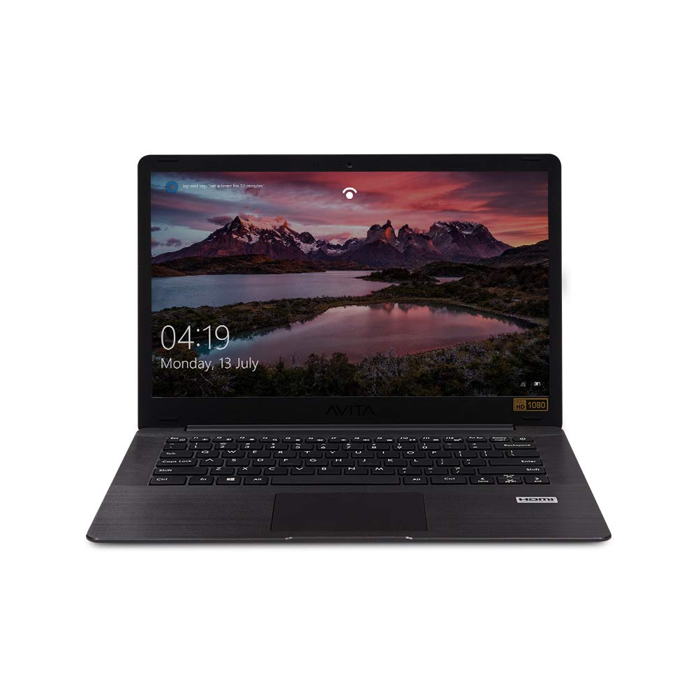 AVITA PURA NS14A6IND541-MEGYB 14-inch Laptop (AMD A9-9420E/8GB/256GB SSD/FHD Display/Windows 10 Home in S Mode/AMD Radeon R5 Graphics), Metallic Black with 3 in 1 Sleeve (Grey)