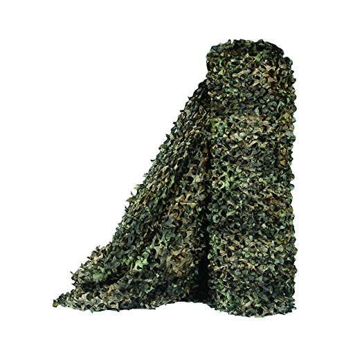 LOOGU Camo Netting, Camouflage Net Blinds Great for Sunshade Camping Shooting Hunting etc. (Tree Camo Bionic Leaves 2, 1.5x20M=5x65.6ft)
