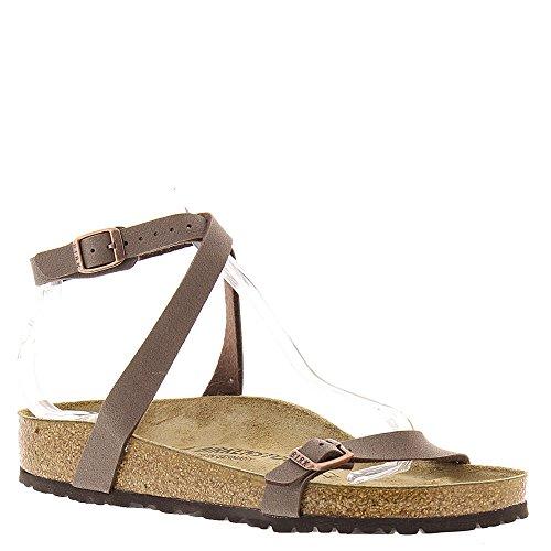 Birkenstock New Daloa Mocha Birkibuc 39/8-8.5 N Womens (Leather Flat Sandals)