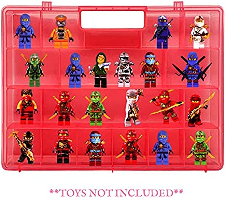 This Box is not Created or Sold by Lego Life Made Better Reinforced Red Toy Carrying Case Compatible with Lego Ninjago Mini Ninja Figurines