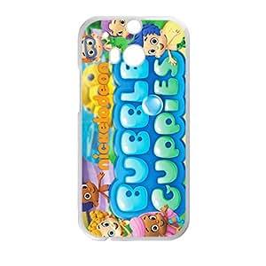 Cartoon Bubble World White HTC M8 case by runtopwell