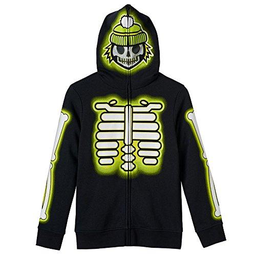 [Tony Hawk Long Sleeve Costume Hoodie - Boys 8-20 (Large)] (Boys Skeleton Sweatshirt Hoodie Costumes)