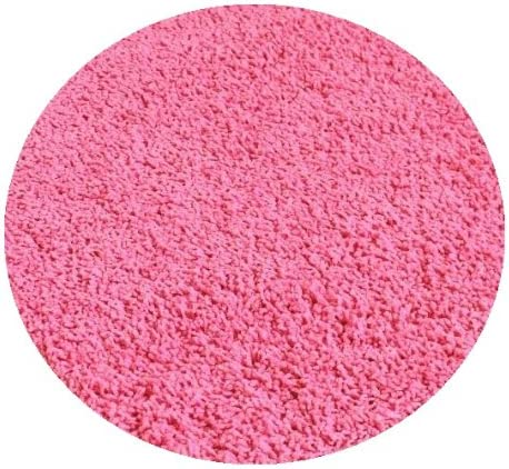 Bubble Gum Pink - 7' ROUND Custom Carpet Area Rug