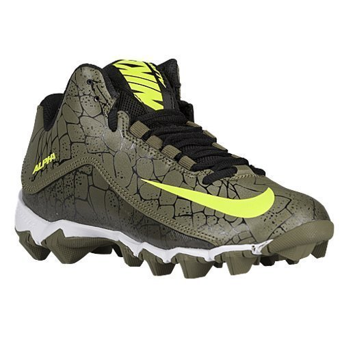 Nike Alpha Shark 2 3/4 BG PP, Black/Volt/Medium Olive, 1 Y M ()