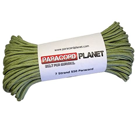 100 25 250 1,000 FT Selections in Solid Colors ParacordPlanet 50 PARACORD PLANET 550LB 7-Strand Parachute Cord Available in 10