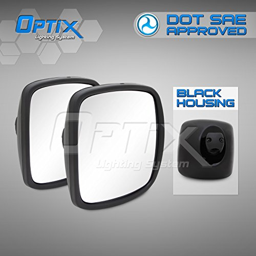 Freightliner M2 Columbia Rear View Main and Wide Angle Mirror Black LH /& RH