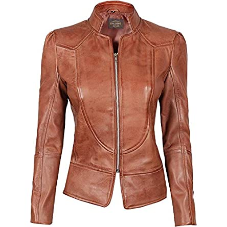 Women Leather Jacket – Real Lambskin Leather...