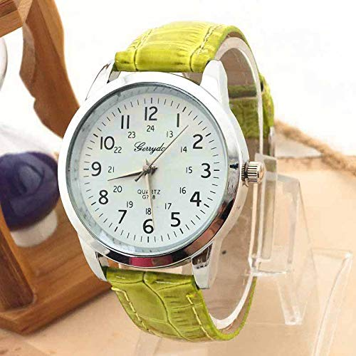 Bestow Reloj Simple Reloj de Pulsera de Cuarzo Elegante Correa de ...