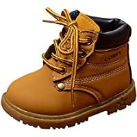 Happy Cherry Baby Autumn Martin Boots Fashion Suede Leather Lace-up Boots Soft Flat Ankle
