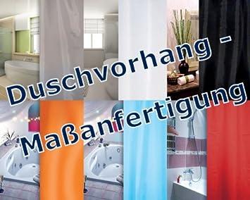 DUSCHVORHANG LÄNGENAUSWAHL NACH WUNSCH / Maßanfertigung / 7 Farben ...