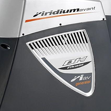 BH Fitness Iridium Avant Generator G247N - Elíptica Semi profesional - Regalo banda de pecho - Sistema inercial 30Kg - Autogenerada - EMS - Zancada 40 cm ...