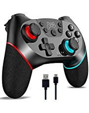 [2021 Upgraded Version] CuleedTec Wireless Switch Controller, Switch Pro Controller Gamepad Joypad Compatible with Nintendo Switch/Switch Lite, with Gyro and Gravity Sensor, Dual Vibration and Turbo Function (NO NFC) with Charging Cable