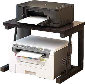 Printer Stands Estante de Madera para Impresora, estantería de Escritorio de Oficina, Doble Capa, Multifuncional, Simple, para el hogar, Estante de ...