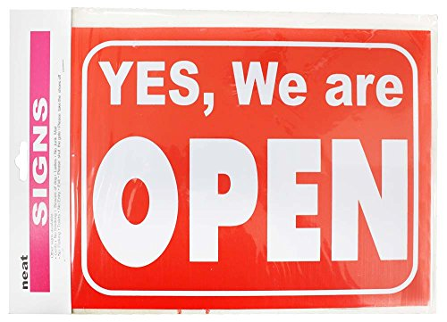 8-1/2 X 11 Inch Open And Closed Sign For Shop Or Restaurant Window : (Pack of 2 Pcs)