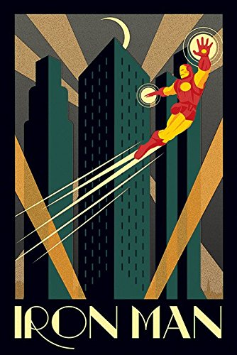 Iron Man - Marvel Comics Poster / Print Art Deco Design