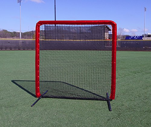 7x7 Armor Baseball / Softball Protective Screen with RED Padding by Armor