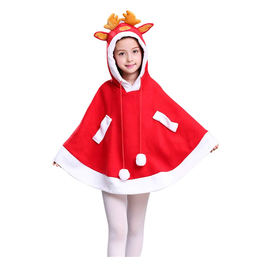 Aimeely Lovely Children Christmas Costume Cloak Deer Cosplay Hooded Cape