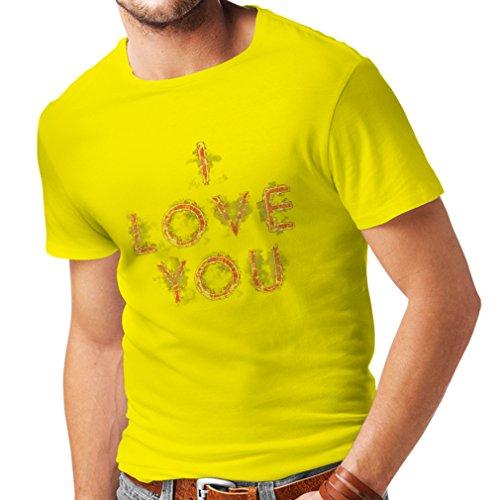 lepni.me Men's T-Shirt I Love You Tumblr Valentines Day Romantic Gift Ideas (Small Yellow Multi Color)]()