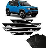 Kit Soleira Jeep Renegade 2016/2019 E Adesivo Protetor de Porta