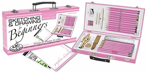 MAZIMARK--Drawing Set Sketching Beginners Art Pencils Kit Gift For Artist School Kids Arts by MAZIMARK