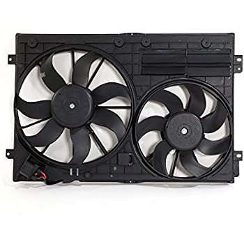 New Dual Radiator and Condenser Cooling Fan Assembly Fit for Audi Volkswagen Front