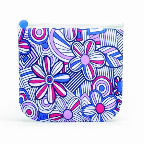 built-reusable-sandwich-snack-bags-mosaic-flower-blue