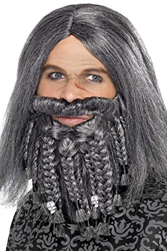 Terror of the Sea Pirate Wig and Beard Set Costume -