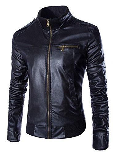 Slim Leather Motorcycle Jacket - 3