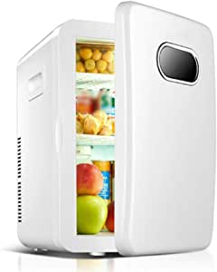ZKKK Mini Bar, Nevera con congelador, 20L,Refrigeración de Doble ...
