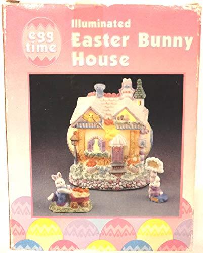 (Easter Village Egg Shaped House, Ceramic Easter House, Easter Bunny House)