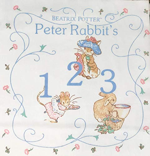 Peter Rabbit 1995 123 Beatrix Potter Fabric Book Panel (Great for Quilted Book, Quilting, Sewing, Craft Projects, Wall Hangings, Throw Pillows and More) 35