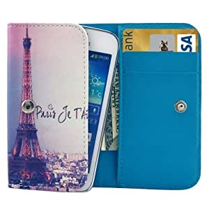 Universal Eiffel Tower Pattern Leather Case with Card Slots & Wallet for Samsung Galaxy S / i9000 / Galaxy SIII mini / i8190, SONY E1, HTC G13 / G20, Size: 12.3 x 6.5 x 2cm