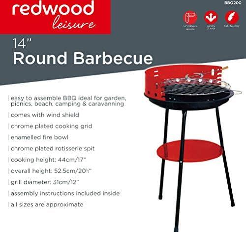Hamble Distribution ltd Redwood Leisure Barbecue Rond 35,5 cm