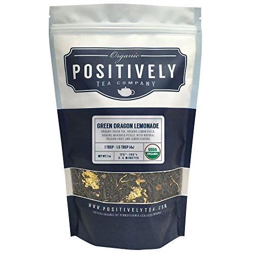 Positively Tea Company, Organic Green Dragon Lemonade, Green Tea, Loose Leaf, USDA Organic, 1 Pound Bag ()